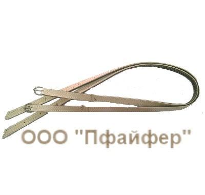 Стременной ремень сыромять + лента вожжевая (ширина 2,5)